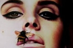 Woman with Bee on Mouth