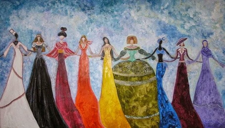 Women in Colorful Dresses