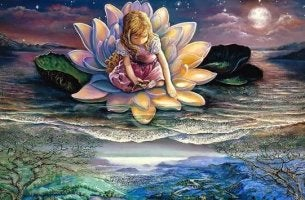 Girl in Lotus