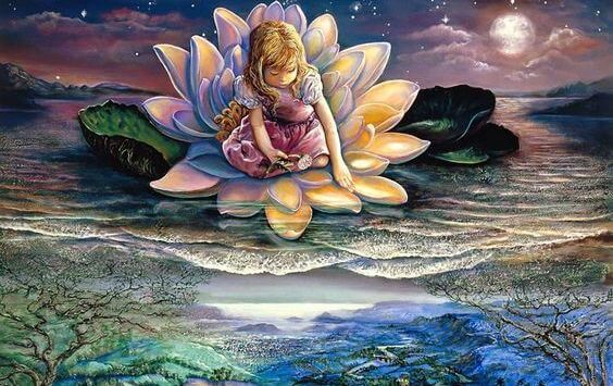 Girl in Lotus