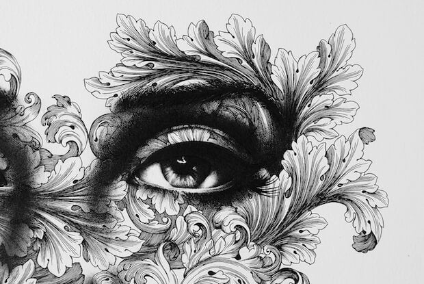 Eye Drawn With Plants