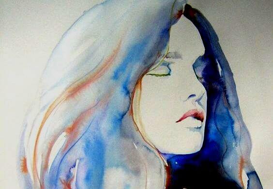 blue-watercolor-girl