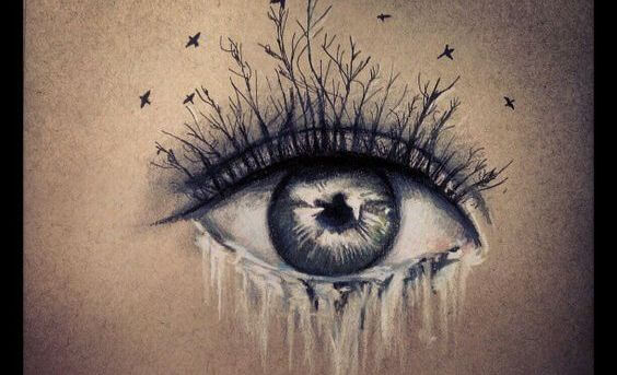 eye-crying-with-branches-for-eyelashes