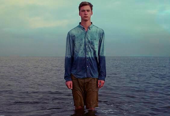 man-in-ocean