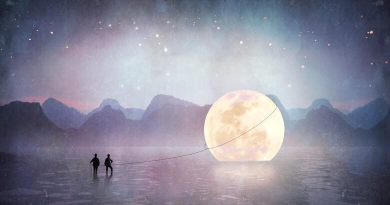 people-caught-the-moon-with-rope