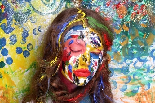 Woman Painted Face