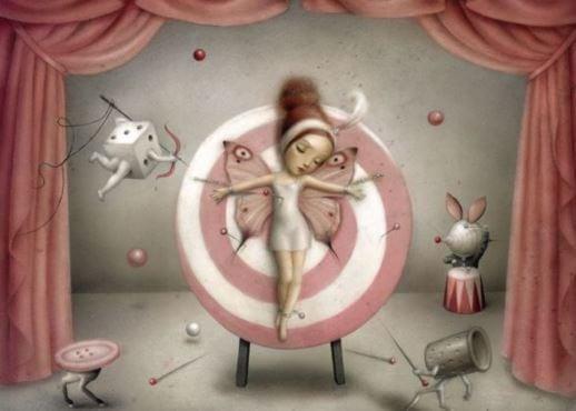 a fairy on a target