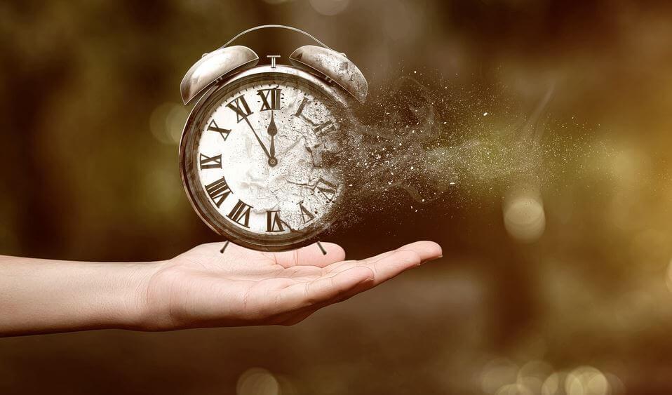 clock blown away by wind