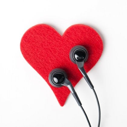Heart and Earbuds