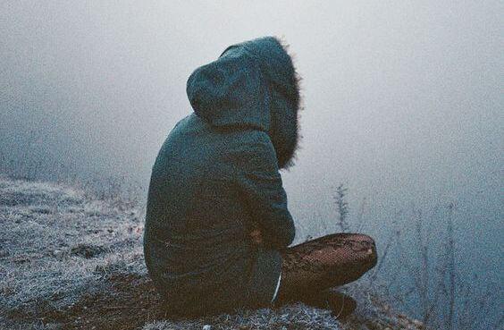 person sitting alone