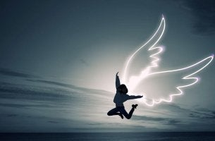 person with wings