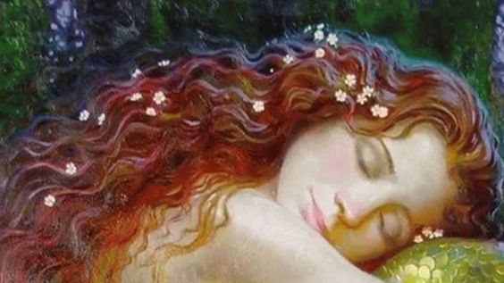 redheaded girl asleep