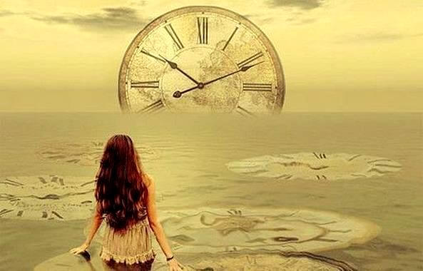 Woman Looking at Time