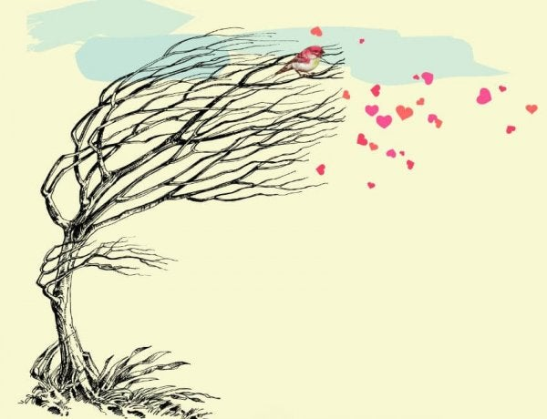 tree blowing hearts