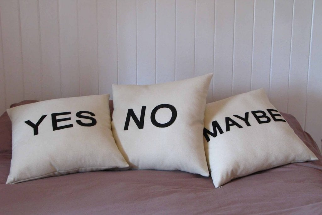 pillows yes no maybe