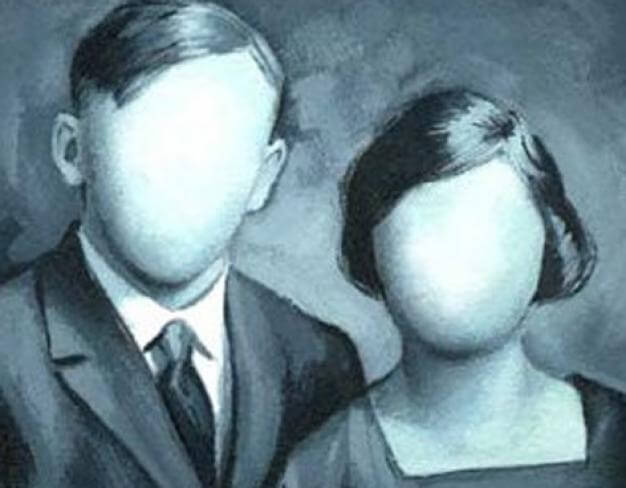 couple with blank faces