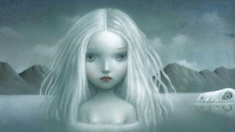 sad white girl