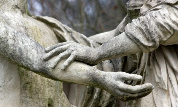 stone statue hands