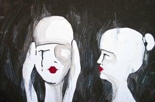 two sad people
