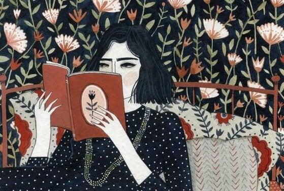 책을 읽는 여성