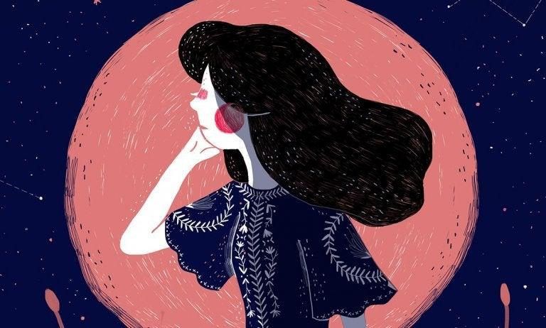 검은 머리의 여성