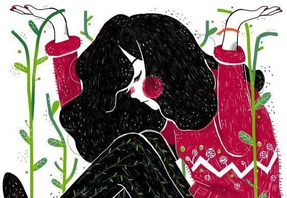 손을 든 여성: 현명한 여성의 5가지 특징