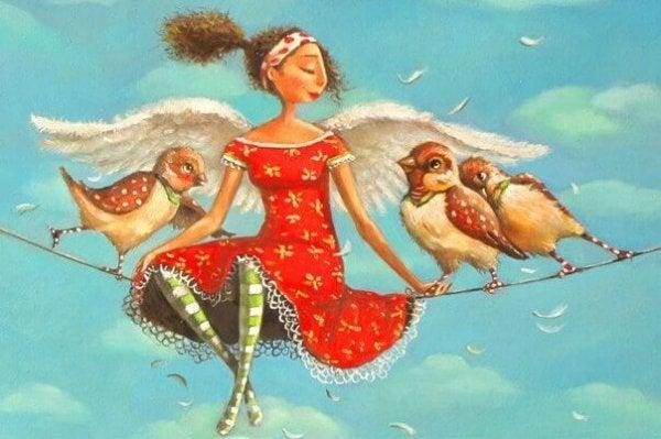 새와 여인