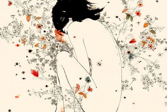 꽃과 여인