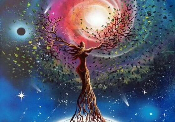 tree woman in the universe