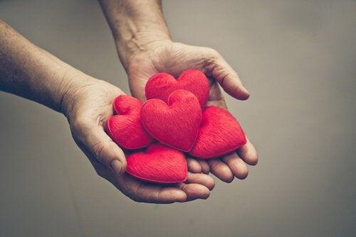 felt plush hearts