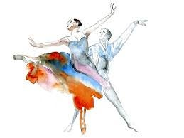 watercolor ballerinas