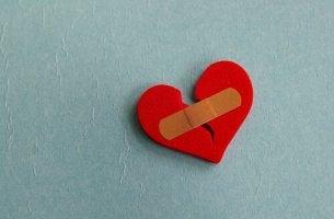 bandaid over broken heart