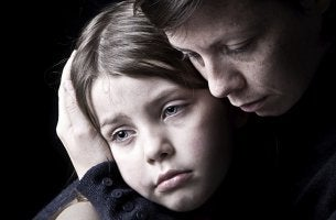 Depression in child and mother.