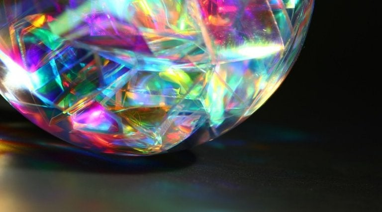 A colorful gem-like sphere.