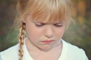 stubborn children girl