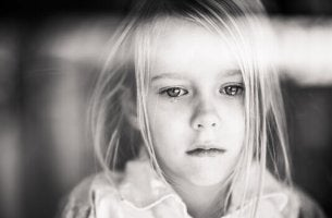 a sad little girl