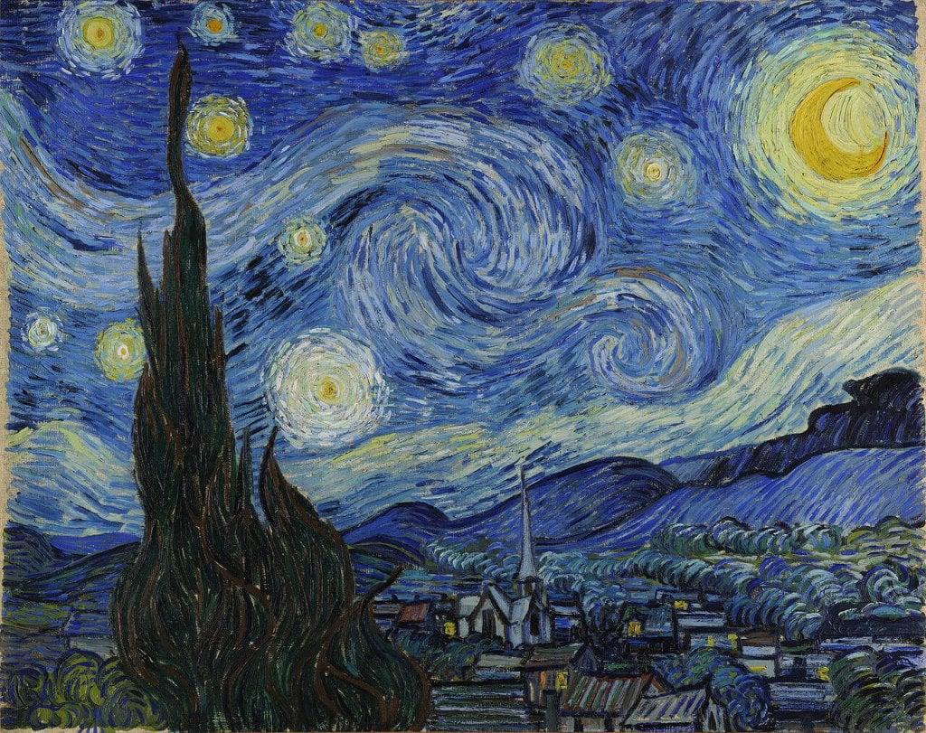 Van Gogh starry night: creativity and suffering