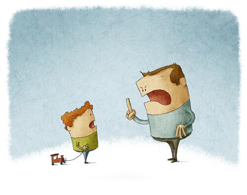 stubborn children cartoon
