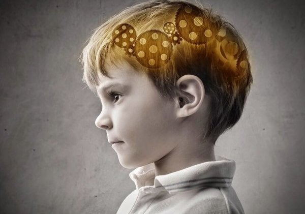 Gears working in a child's brain.
