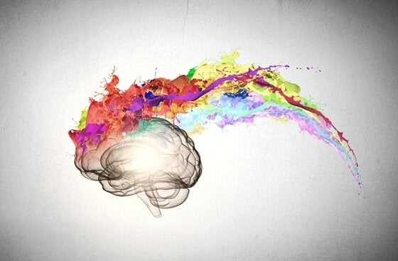 a painted brain