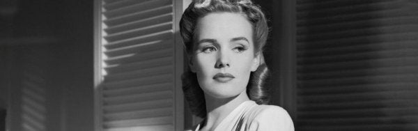 Frances Farmer acting in a movie