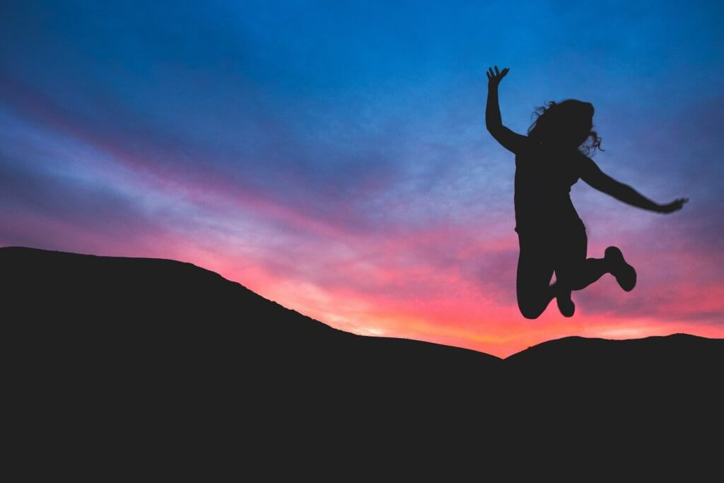 jumping in empowerment and freedom