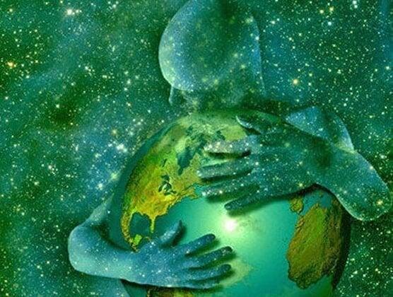 hugging the globe