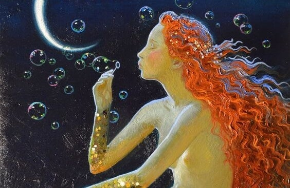 a mermaid, making a home in yourself