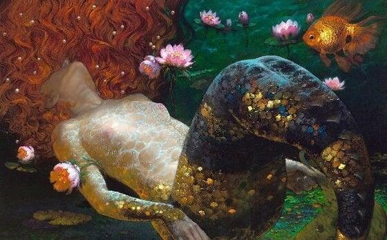 a mermaid