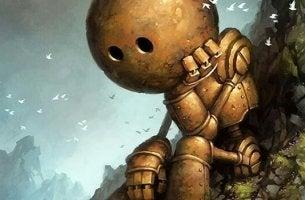 a sad robot