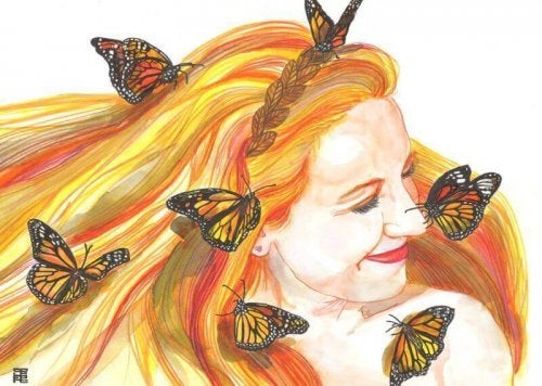 laugh every day butterfly