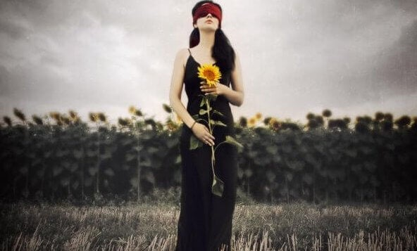 sunflowers woman