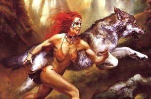 woman is a wolf