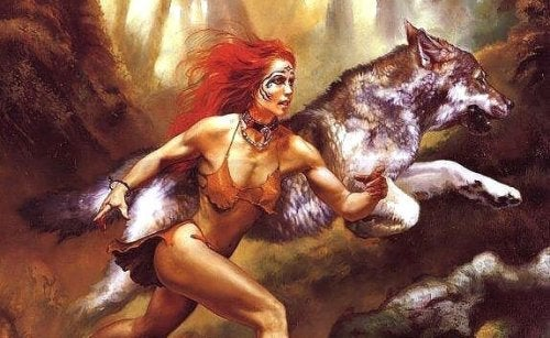 pics wolf Women warrior female